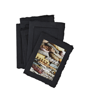 Cotton paper photo frames