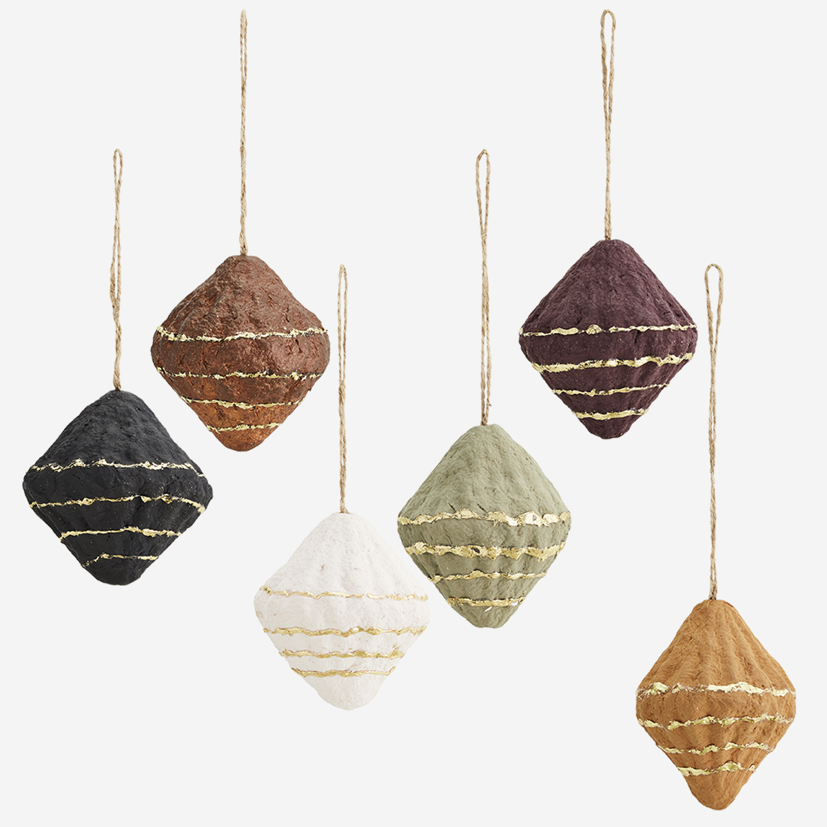 Hanging cotton paper cones