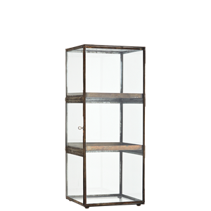 Glass cabinet w/ shelves