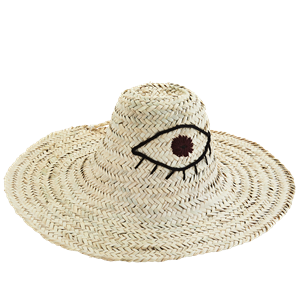 Straw hat w/ embroidery