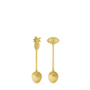Small brass spoon w/ ornament