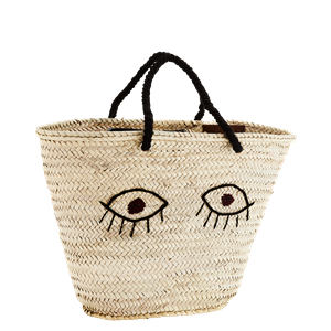 Straw bag w/ embroidery