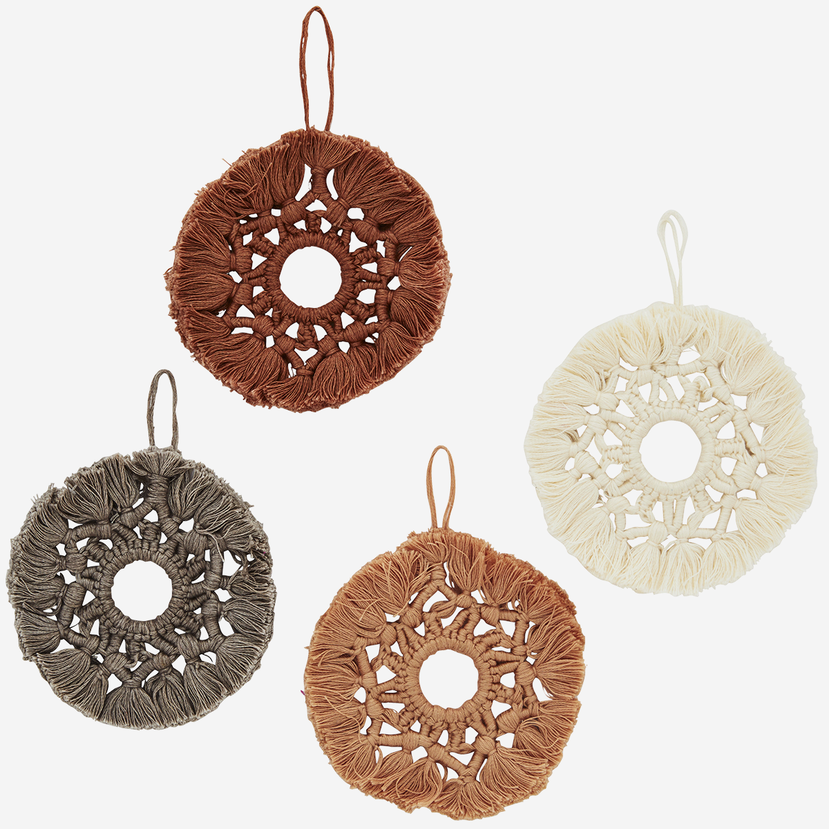 Hanging cotton ornament
