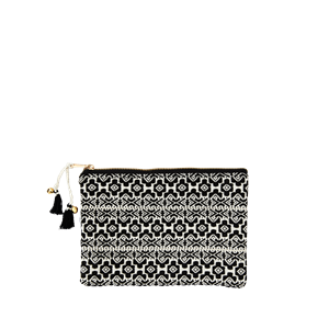 Woven cotton purse