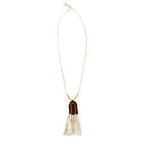 Necklace with fringes