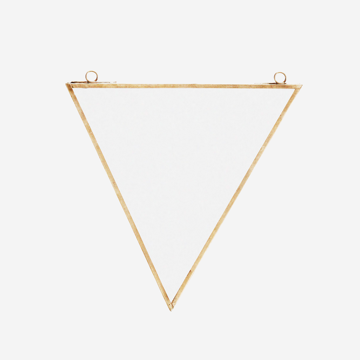 Triangle wall mirror
