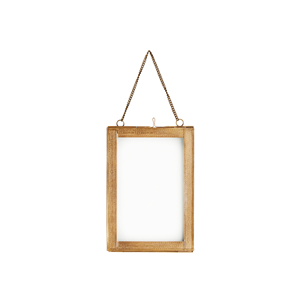 Hanging photo frame w/ engraved borders