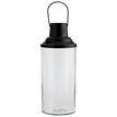 Glass lantern w/ black top
