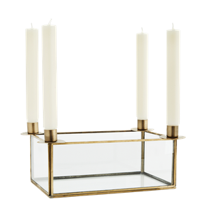 Glass box w/ candle holders