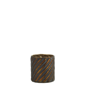 Glass votive w/ stripes