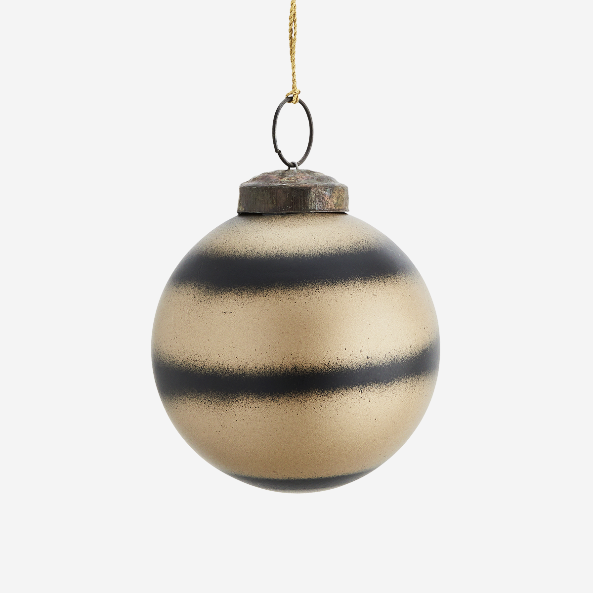 Hanging glass ball w/ stripes