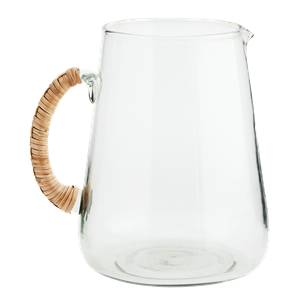 Glass jug w/ bamboo handle