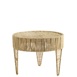 Round jute table