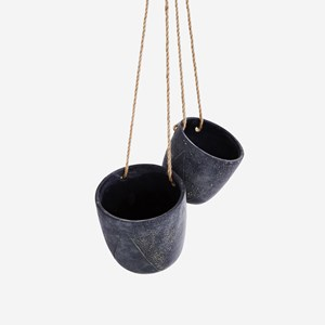 Hanging cement flower pots