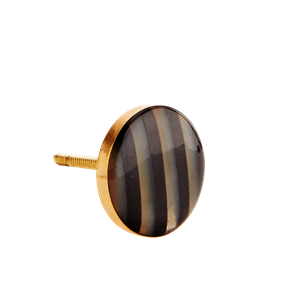 Horn doorknob w/ stripes