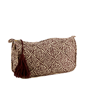 Printed toilet bag w/ tassel