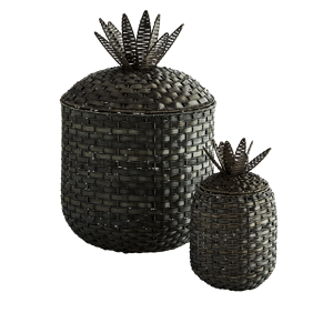 Rattan pineapple baskets w/ lid